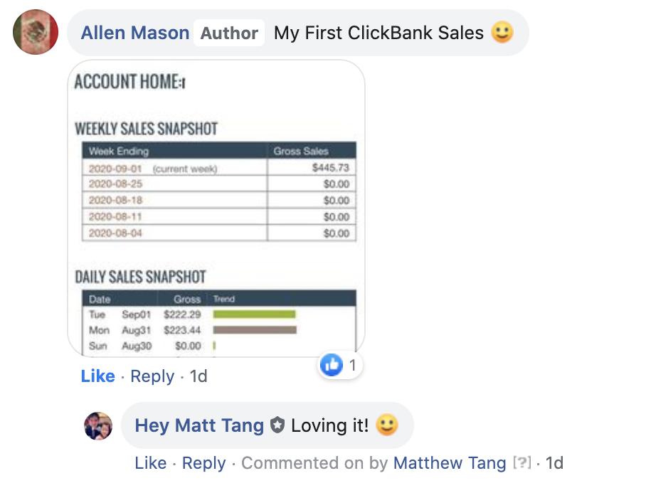 ClickWealth Testimonial by Allen Mason